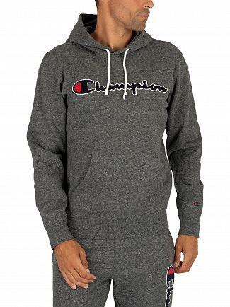 Champion Dark Grey Graphic Pullover Hoodie