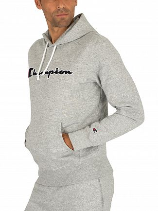 Champion Light Grey Graphic Pullover Hoodie