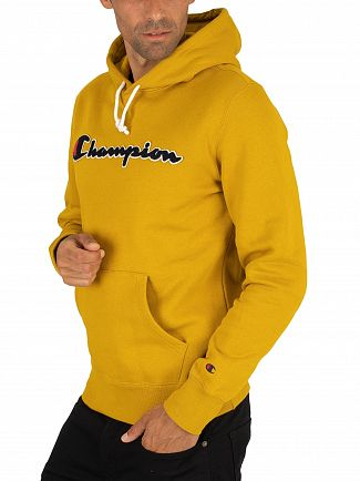 Champion Yellow Graphic Pullover Hoodie