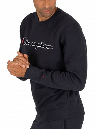 Champion Navy Graphic Sweatshirt