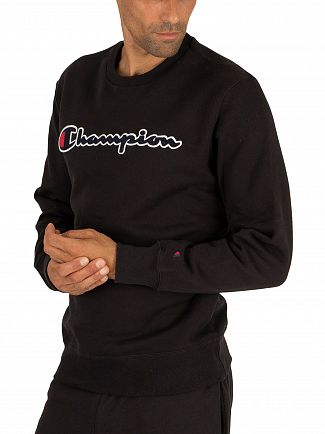 Champion Black Graphic Sweatshirt
