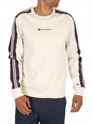 Champion White Logo Sweatshirt