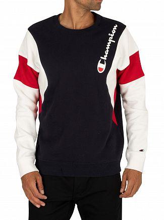 Champion Navy Side Logo Sweatshirt