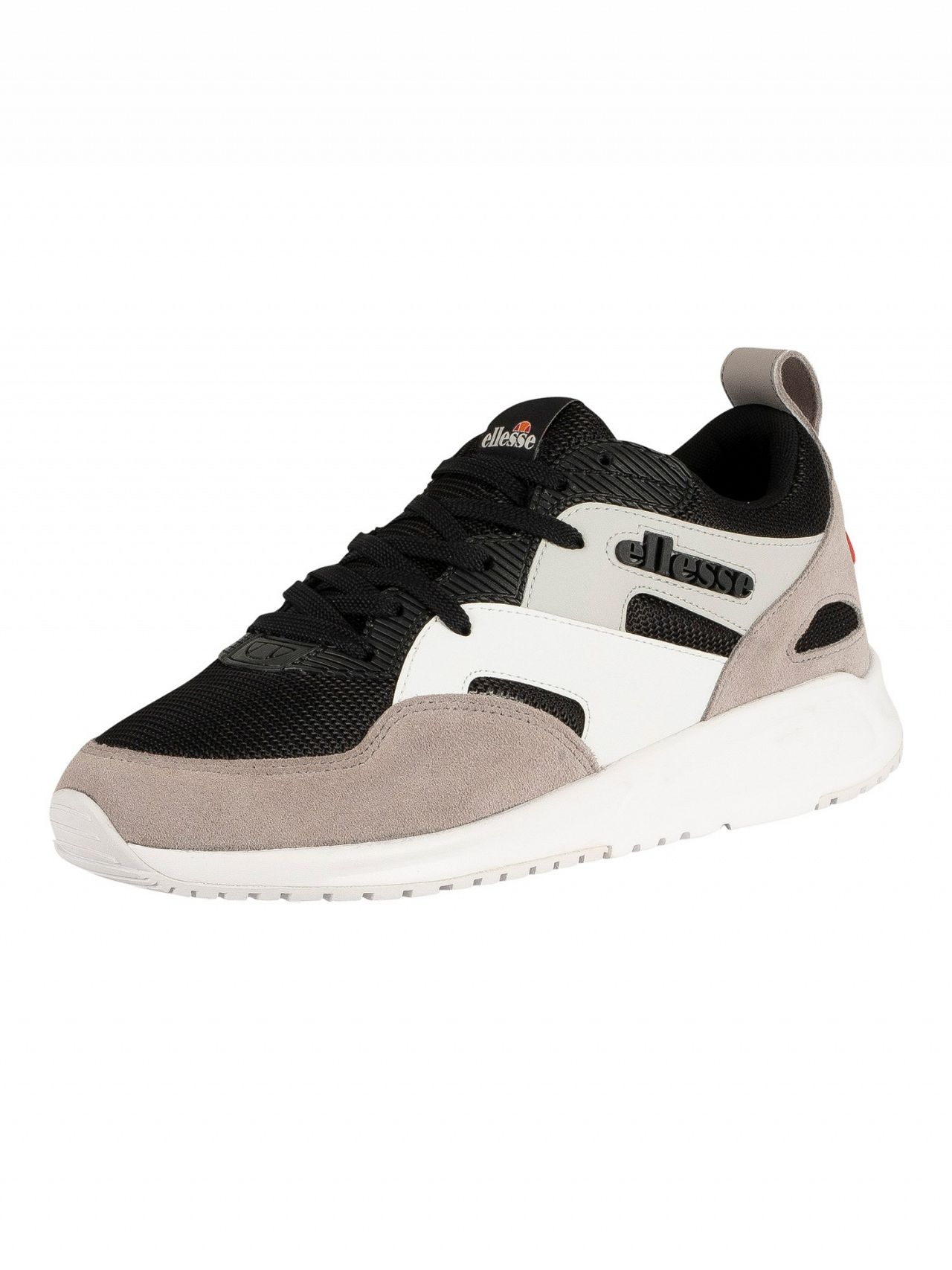 86a9938b2 Ellesse Black/Grey/White Potenza Suede Trainers | Standout