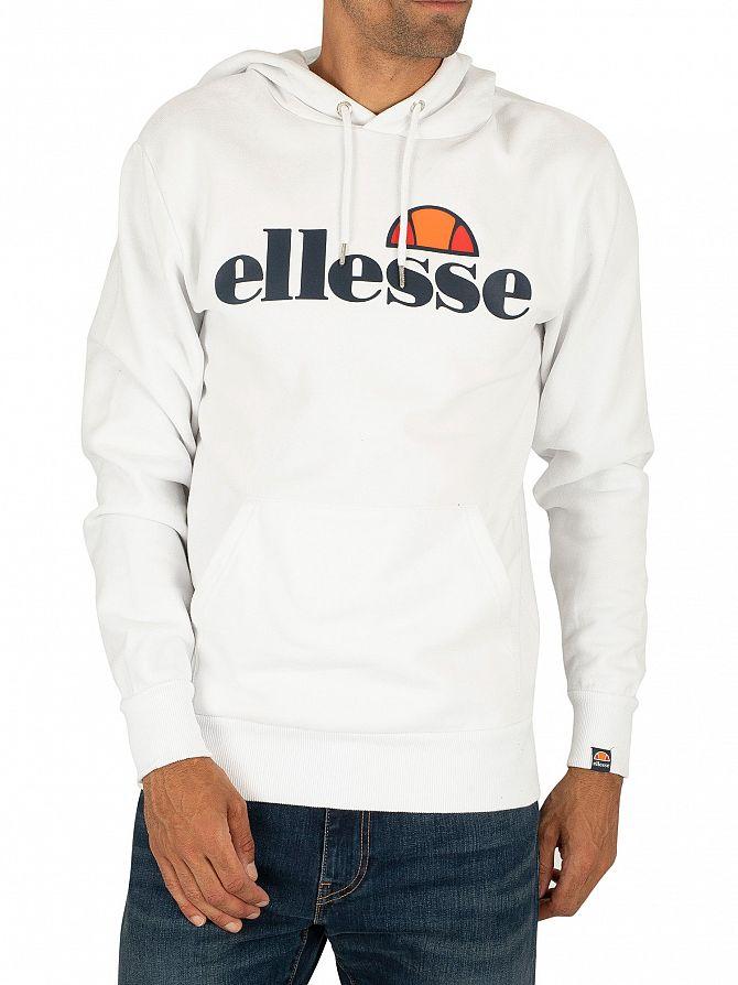 Ellesse White SL Gottero Pullover Hoodie