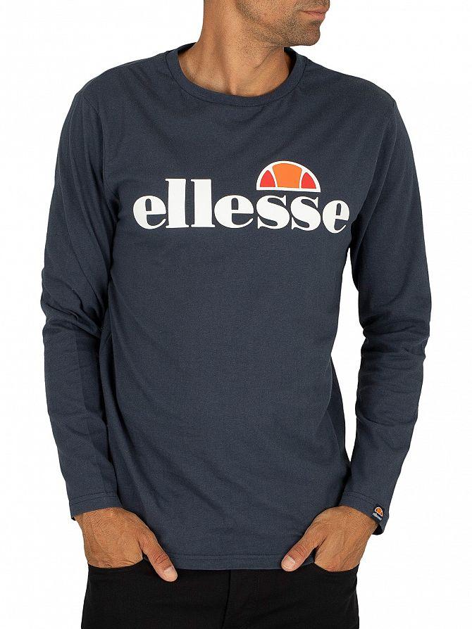 Ellesse Navy SL Grazie Longsleeved T-Shirt