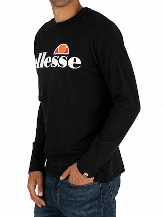 Ellesse Black SL Grazie Longsleeved T-Shirt