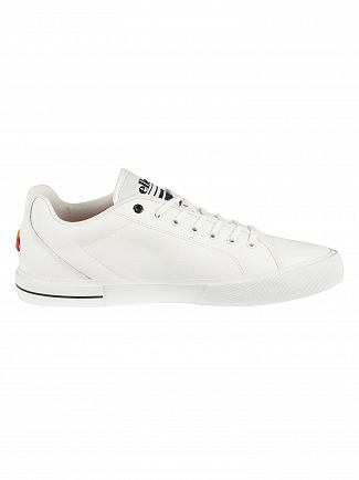 Ellesse White/Dark Blue Taggia Leather Trainers