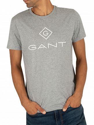 Gant Grey Melange Lock Up T-Shirt