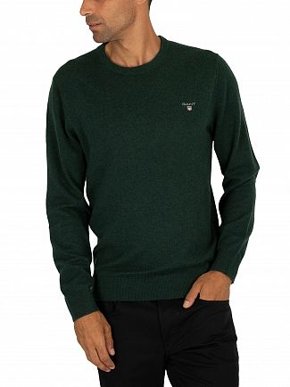 Gant Tartan Green Superfine Lambswool Knit