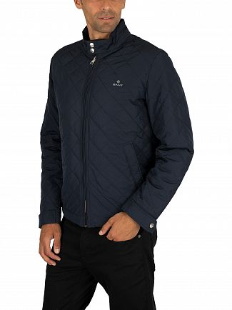 Gant Evening Blue The Quilted Windcheater Jacket