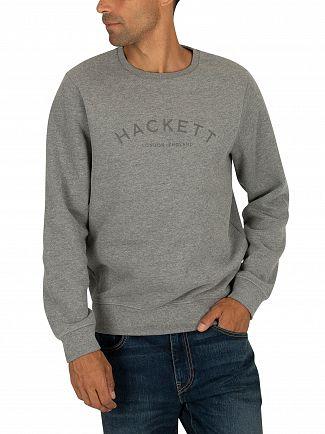 Hackett London Grey Marl Classic Logo Sweatshirt