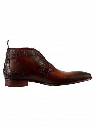 Jeffery West Castano Vintage/Croco Scarface Shoes