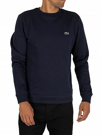Lacoste Navy Logo Sweatshirt