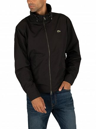 Lacoste Black Windbreaker Jacket