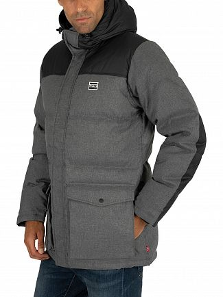 Levi's Dark Heather Grey Down Puffer Parka Jacket