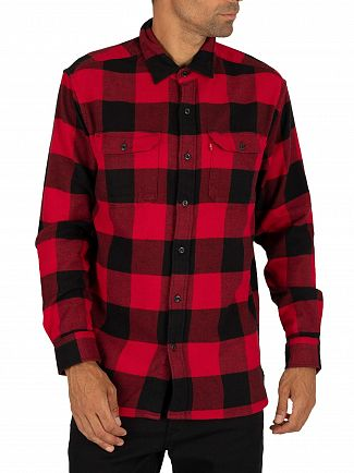 Levi's Bandurria Crimson Plaid Jackson Worker Shirt