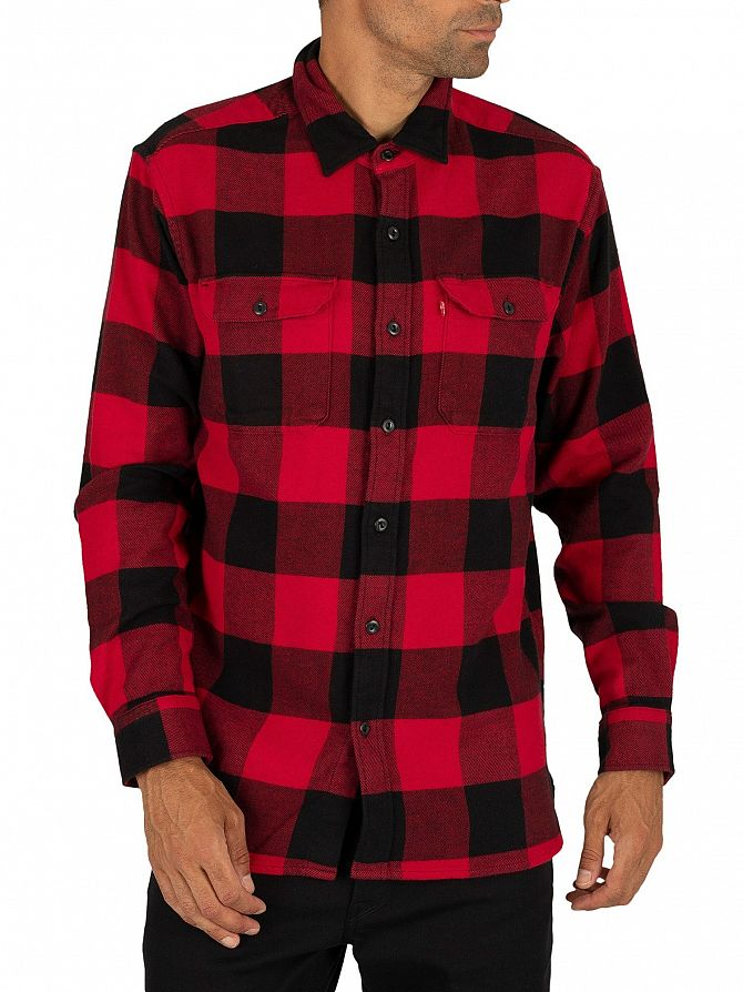 Levi's Bandurria Crimson Plaid Jackson Worker Shirt