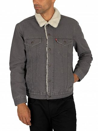Levi's Magnet Canvas Type 3 Sherpa Trucker Jacket
