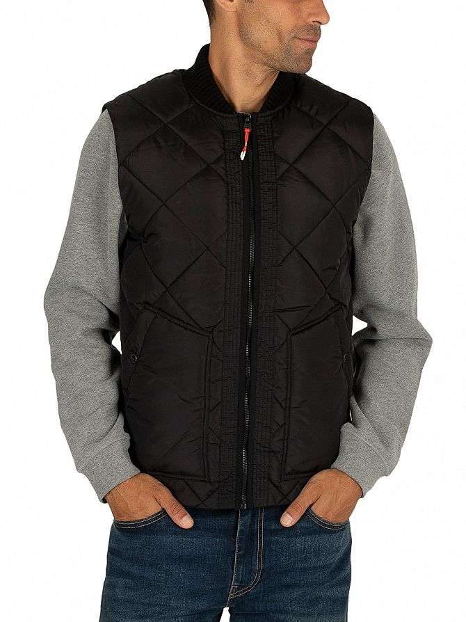 Scotch & Soda Black Quilted Gilet