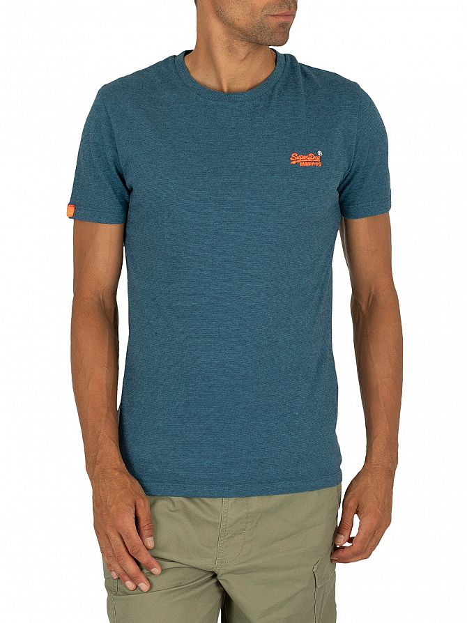 Superdry Glacier Blue Feeder Orange Label Vintage Embroidery T-Shirt