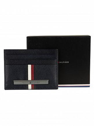 Tommy Hilfiger Sky Captain Corporation Stripe Card Holder