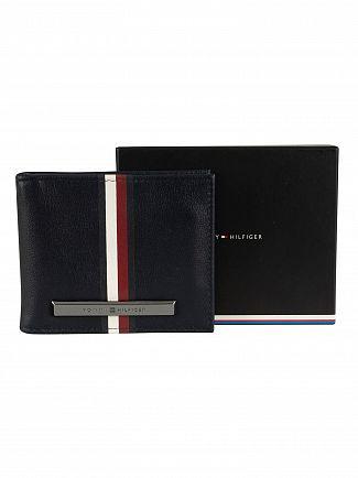 Tommy Hilfiger Sky Captain Corporation Stripe Mini Money Wallet