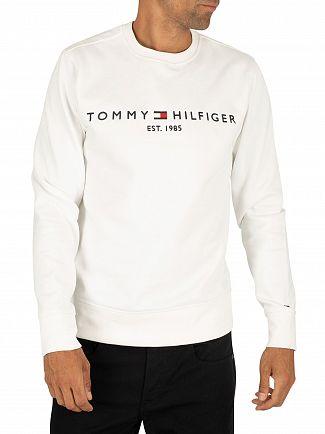 Tommy Hilfiger Bright White Logo Sweatshirt