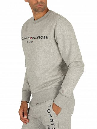 Tommy Hilfiger Cloud Heather Logo Sweatshirt