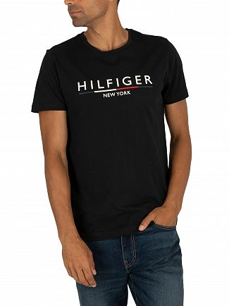 Tommy Hilfiger Jet Black Underline T-Shirt