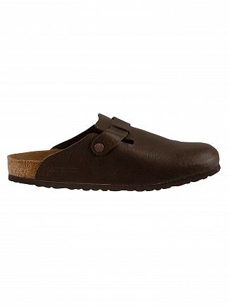Birkenstock Espresso Boston BS Vegan Sandals
