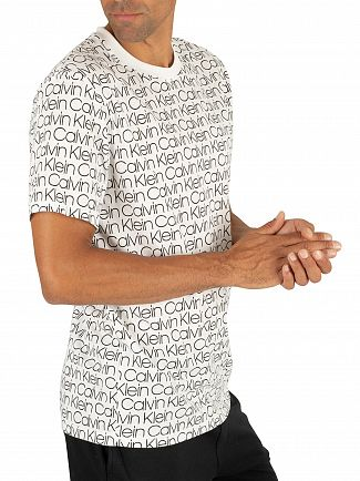 Calvin Klein White Modlus Logo Print T-Shirt