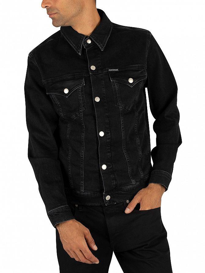 Calvin Klein Jeans Black Foundation Slim Denim Jacket