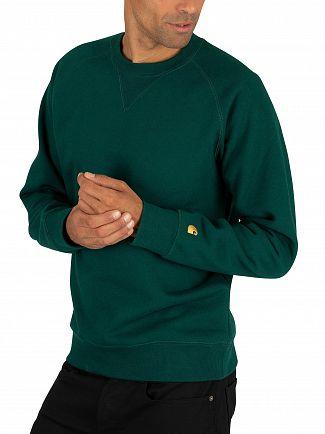 Carhartt WIP Dark Fir/Gold Chase Sweatshirt