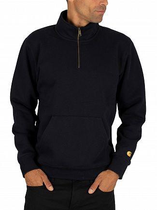 Carhartt WIP Dark Navy/Gold Chase Zip Jumper