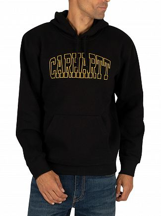 Carhartt WIP Black/Colza Theory Embroidery Pullover Hoodie