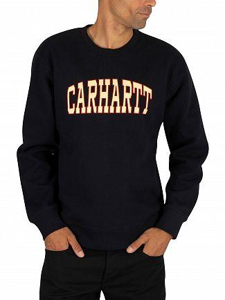 Carhartt WIP Dark Navy Theory Sweatshirt