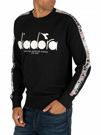 Diadora Black/Super White Graphic Offside Sweatshirt