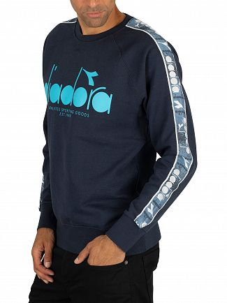 Diadora Blue Denim Graphic Offside Sweatshirt