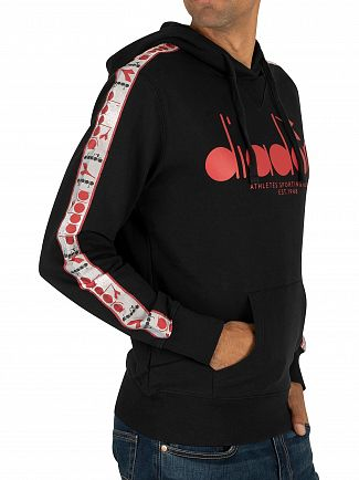 Diadora Black/Red Capital Offside Pullover Hoodie