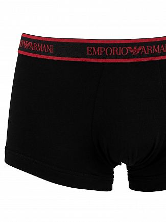 Emporio Armani Black/Anthracite/Ruby 3 Pack Trunks