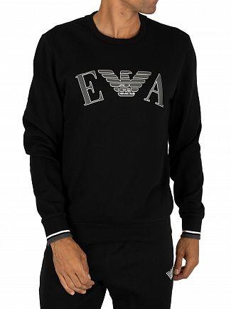 Emporio Armani Black Graphic Sweatshirt