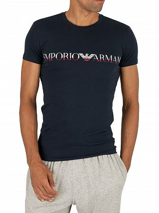 Emporio Armani Marine Mega Logo Crew T-Shirt
