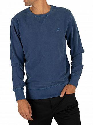 Gant Evening Blue Winter Faded Sweatshirt