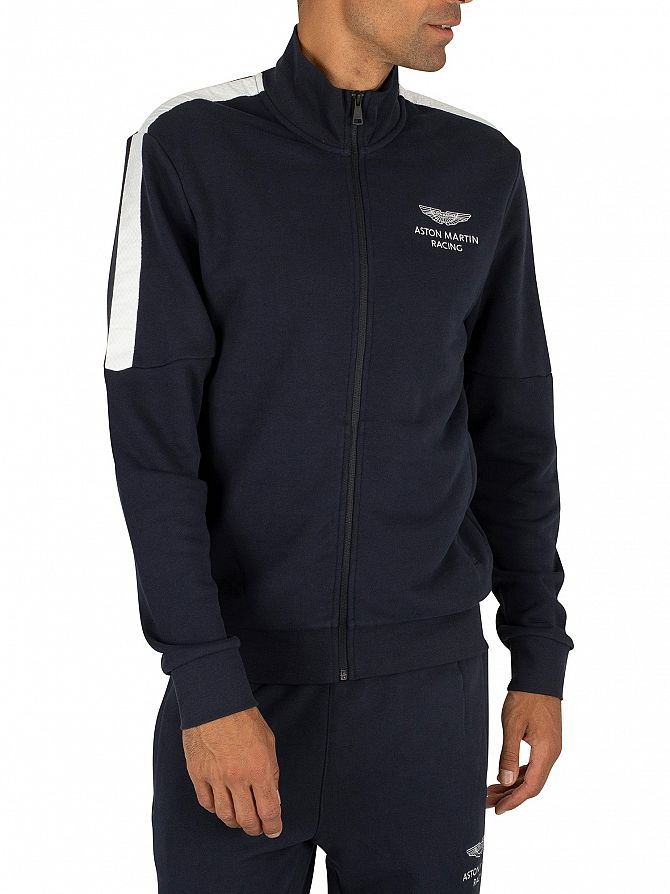 Hackett London Navy AMR Zip Track Jacket