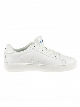 K-Swiss White/White/Corporate Court Casal Leather Trainers