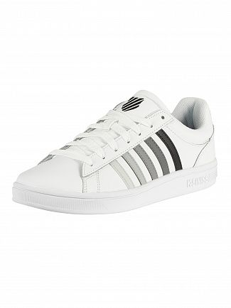 K-Swiss White/Black Gradient Court Winston Leather Trainers