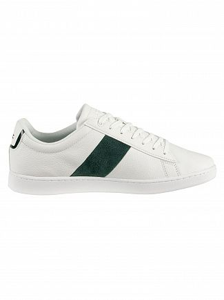 Lacoste White/Dark Green Carnaby Evo 319 1 SMA Leather Trainers