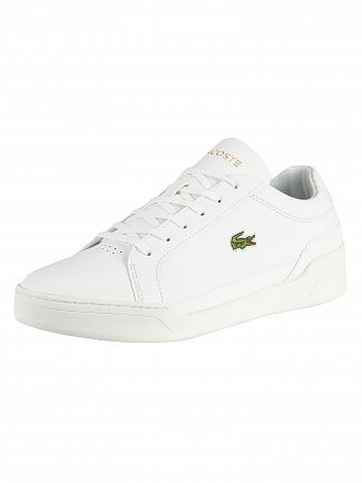 Lacoste White/White Challenge 319 5 SMA Leather Trainers