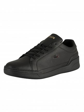 Lacoste Black/Black Challenge 319 5 SMA Leather Trainers